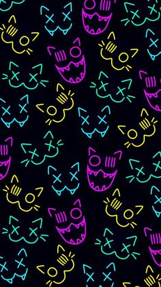Colorfull Wallpaper, Neon Wallpaper, Rainbow Wallpaper, Iphone Background Wallpaper, Tumblr Wallpaper, Black Aesthetic Wallpaper, Aesthetic Backgrounds, Aesthetic Wallpapers, Cheshire Cat Smile