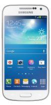 """The GALAXY S4 Mini runs Android 4.2.2 Jellybean with a 4.3"""" display while maintaining the familiar Galaxy S4 design. The Galaxy S4 Mini is powered by a 1.7 GHz dual-core Krait 200 CPU, Snapdragon 400 Chipset, Adreno 305 GPU with 2GB of RAM and a 8MP camera that does 720p HD videos. The Galaxy S4 Mini is full of graphical capabilities, fast screen transitions, S-Voice natural language commands and dictation, Smart stay, Smart pause, Smart scroll, Air gestures, etc."""