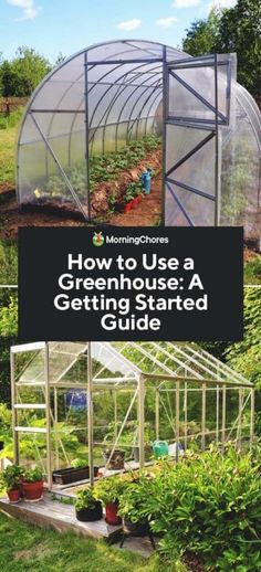 How to Use a Greenhouse: A Getting Started Guide Greenhouses are great tools for extending your gardening season. Before you get started, here is how to use a greenhouse for beginners. Diy Greenhouse Plans, Large Greenhouse, Greenhouse Effect, Greenhouse Growing, Greenhouse Gardening, Vegetable Gardening, Backyard Aquaponics, Container Gardening, Growing Plants