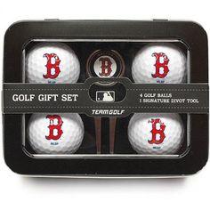 Team Golf MLB Boston Red Sox 4 Golf Ball And Divot Tool Set, Blue