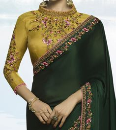 Improve How You Look With These Great Fashion Tips Saree Designs Party Wear, Blouse Designs Silk, Blouse Patterns, Party Wear Sarees, Party Wear Kurtis, Party Wear Dresses, Saree Dress, Saree Blouse, Elegant Saree