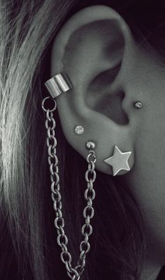 Ear Piercings - 50 Beautiful Ear Piercings  <3 <3