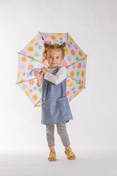 Girls pinafore dress back to school denim pinafore dress by EcoEmi