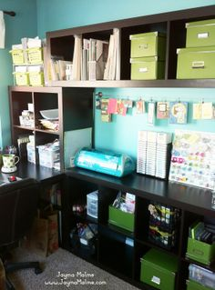 Playing with Paper: CTMH Scrapbooks, Cards & DIY: My NEW Ikea Expedit Craft Room!