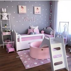 The Best in Girl's Bedroom Design and Decor Inspiration! Baby Bedroom, Baby Room Decor, Bedroom Decor, Rustic Girls Bedroom, Gothic Bedroom, Girls Room Design, Girl Bedroom Designs, Home Design, Design Design