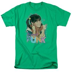 Submerge yourself in the world of Punky Brewster with this Original Punk Adult T-Shirt. Now you can live out your fantasy and wear this officially licensed, kelly green t-shirt made of 100% pre-shrunk