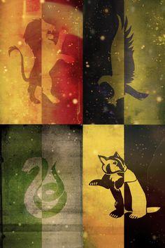 casas de hogwarts tumblr - Pesquisa Google