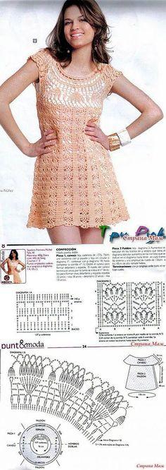 Нежно-розовое ажурное платье с круглой кокеткой.: Дневник группы