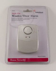 radioshack home security stick on windowdoor alarm white 490 0407 radioshack
