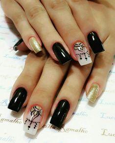 Colorful Nail Designs, Cute Nail Designs, Dream Nails, Love Nails, Fancy Nails, Trendy Nails, Summer Nails, Nail Colors, Acrylic Nails
