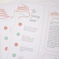 Three printable kitchen tea games