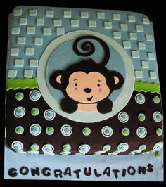 monkey baby shower cakes for boys   New Cake Ideas