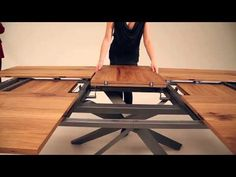 IF you play it on mute, it's an amazing new extendable table by Ozzio - Italian space saving furniture - YouTube