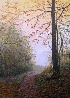 Poesia d'Autunno - Acrilico su Tela 50x70cm - 2016 - Autumn Poetry . Acrylic on Canvas 50x70cm -2016