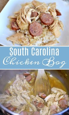 This South Carolina Chicken Bog recipe is a delicious combination of chicken, sausage, and rice, that's similar to Jambala, without the tomatoes and spices. Crockpot Recipes, Chicken Recipes, Cooking Recipes, Healthy Recipes, Chicken Perlo Recipe, Southern Chicken Stew Recipe, Steak Recipes, Orzo Recipes, Game Recipes