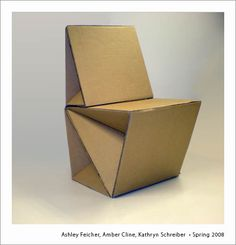 Cardboard Chair, College of Arts and Sciences, Gallery of student works, cardboard chairs