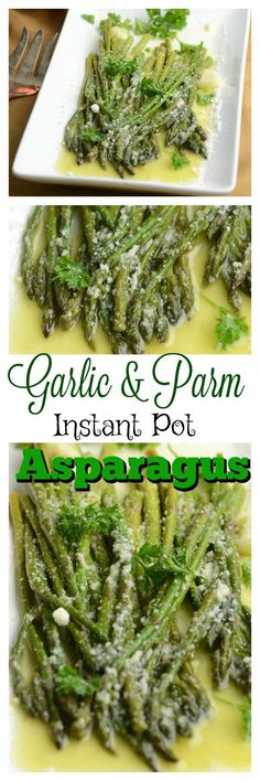 Share with friends5 955 1 961SharesGarlic and Parm Instant Pot Asparagus I just finished moving and now the Holiday's are almost here. I will be running my Inst