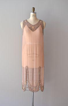 1920s dress / beaded 20s dress / A Little Paris silk dress. $545.00, via Etsy.