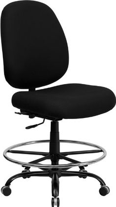 Flash Furniture WL715MGBKDGG Hercules Series 400Pound BigTall Black Fabric Drafting Stool with Extra Wide Seat * Check this awesome product by going to the link at the image.Note:It is affiliate link to Amazon.