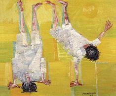 Candido Portinari - Cambalhota, 1958.: Infância em Portinari :. Art Studies, Figure Painting, Portrait Art, Figurative Art, Traditional Art, Art Images, Art For Kids, Contemporary Art, Graffiti