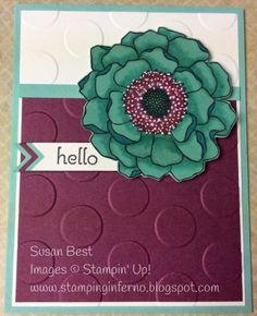 Blended Bloom for JAX STARZ Blog Hop at www.StampingInferno.blogspot.com