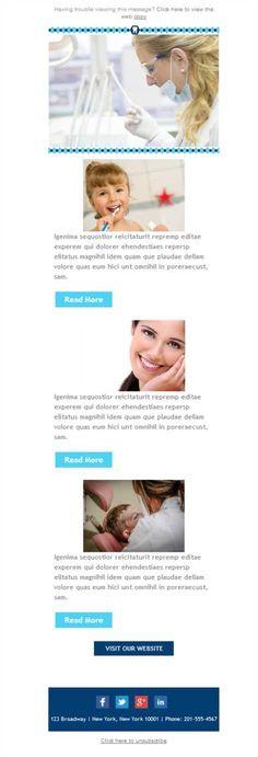 Un diseño divertido para tu consultorio dental. Plantilla disponible también en versión desktop