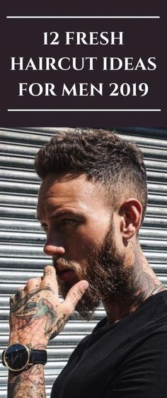 12 Fresh Haircut Ideas For Men 2019 - Men's style, accessories, mens fashion trends 2020 Mens Haircuts Quiff, Mens Hairstyles 2016, Cool Hairstyles For Men, Best Short Haircuts, Everyday Hairstyles, Cool Haircuts, Haircuts For Men, Hairstyle Men, Hairstyle Ideas