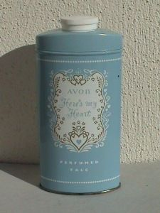 "My mother was an Avon Lady.  I remember getting into her stock of Avon stuff and sprinkling this in my hair.  I don't think either one of us liked ""Here's My Heart"" so much after that."