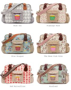 Bags by Pink Lining - Owl, flamingo, bicycle