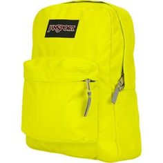 JANSPORT SuperBreak Backpack, I like neon backpacks..