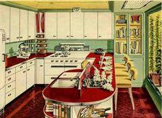 Retro kitchen.