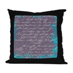 Psalm 23 Suede Pillow