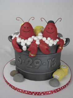 Fun wedding cake, Newport Wedding cake, lobster pot wedding cake, modern wedding cake, lobsters, cute wedding cake, unusual wedding cake