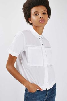 PETITE Smart Short Sleeve Shirt - Petite - Clothing - Topshop USA