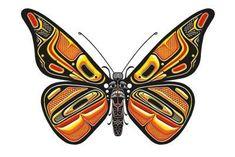 Art Print: Bentwood Butterfly Art Print by Matt James : Native Art, Native American Art, Arte Tribal, Haida Art, Inuit Art, Butterfly Drawing, Native Design, Canadian Art, Native Canadian