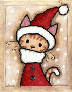 Santa Claus Orange Tabby Cat