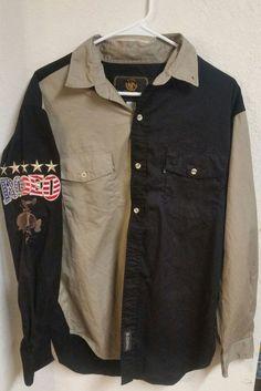 05b69a613f3d EL GENERAL Black And Brown Rodeo Dress Shirt L