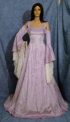 medieval dress wedding or handfasting dress  by camelotcostumes, $315.00