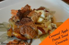 Caramel Apple French Toast Casserole- spread cream cheese on bread instead of cubing it. Breakfast For A Crowd, Breakfast Toast, Breakfast Dishes, Breakfast Ideas, Apple Recipes, Fall Recipes, Real Food Recipes, Apple French Toast, French Toast Casserole