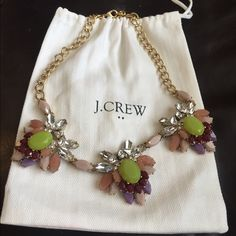 J crew necklace with pouch Like new statement necklace, adorable! J. Crew Jewelry Necklaces