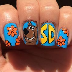 Scooby-Doo cartoon nails that are old-school cool. Scooby-Doo cartoon nails that are old-school cool. Disney Acrylic Nails, Disney Nails, Best Acrylic Nails, Cute Nail Art, Cute Nails, Pretty Nails, Cartoon Nail Designs, Nail Art Designs, Vacation Nails