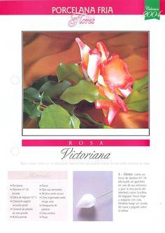 Todo Flores de Porcelana Fria: Rosas Paso a paso Sugar Paste Flowers, Cold Porcelain, Flower Tutorial, Diy Projects To Try, Flower Art, Decoupage, Polymer Clay, Plants, Recipes