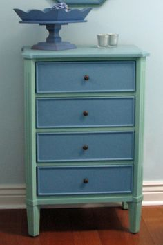 flea market flips before and afters | Just*Grand: Before and After * Mini Chest of Drawers* Re-do