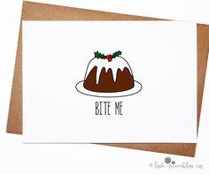Funny Christmas Card ∙ Joke Holiday Card ∙ Greetings Card ∙ Naughty Seasonal…