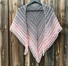 This pattern i written in swedish and english below. Anja Kessel made a german translation of this pattern, available as PDF-file. schultertuch-secret-shawl and secret-path-tuch. Crochet Prayer Shawls, Crochet Shawls And Wraps, Crochet Scarves, Crochet Clothes, Crochet Woman, Love Crochet, Knit Crochet, Crochet Designs, Crochet Patterns