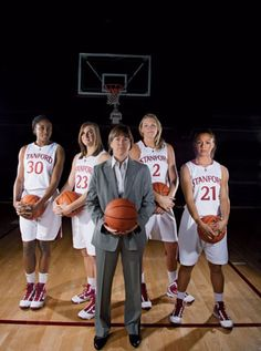 Tara VanDeveer with 3 future WNBA ers and one future announcer