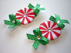 Girl Toddlers Infants Baby Peppermint Ribbon Sculpture by bowtowne, $11.95