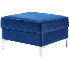 Inspired Home Navy Square Storage Ottoman ($145) ❤ liked on Polyvore featuring home, furniture, ottomans, navy blue storage ottoman, upholstered footstool, navy storage ottoman, square ottomans and fabric storage ottoman