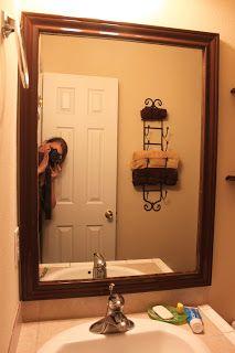 diy framed bathroom mirror u0026 wine holder for towels