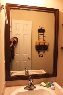 Moments Of Sanity In My Madhouse: Bathroom Mirror Frame